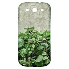 Plants Against Concrete Wall Background Samsung Galaxy S3 S Iii Classic Hardshell Back Case by dflcprints