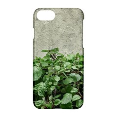 Plants Against Concrete Wall Background Apple Iphone 7 Hardshell Case by dflcprints