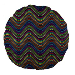 Decorative Ornamental Abstract Large 18  Premium Flano Round Cushions by Nexatart