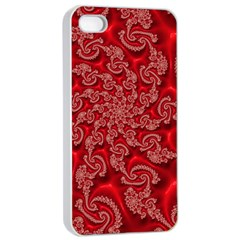 Fractal Art Elegant Red Apple Iphone 4/4s Seamless Case (white) by Nexatart