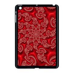 Fractal Art Elegant Red Apple Ipad Mini Case (black) by Nexatart
