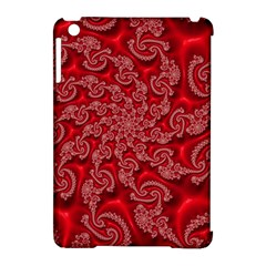 Fractal Art Elegant Red Apple Ipad Mini Hardshell Case (compatible With Smart Cover) by Nexatart