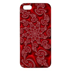 Fractal Art Elegant Red Apple Iphone 5 Premium Hardshell Case