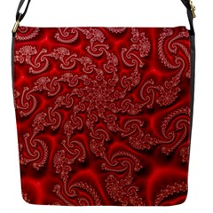 Fractal Art Elegant Red Flap Messenger Bag (s) by Nexatart