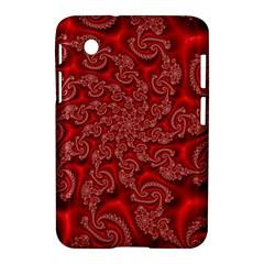 Fractal Art Elegant Red Samsung Galaxy Tab 2 (7 ) P3100 Hardshell Case