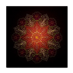 Floral Kaleidoscope Face Towel by Nexatart