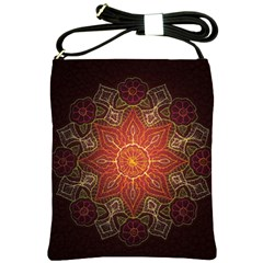 Floral Kaleidoscope Shoulder Sling Bags by Nexatart
