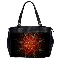 Floral Kaleidoscope Office Handbags by Nexatart