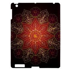 Floral Kaleidoscope Apple Ipad 3/4 Hardshell Case by Nexatart