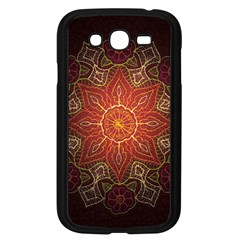 Floral Kaleidoscope Samsung Galaxy Grand DUOS I9082 Case (Black) by Nexatart