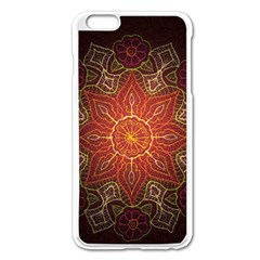 Floral Kaleidoscope Apple Iphone 6 Plus/6s Plus Enamel White Case