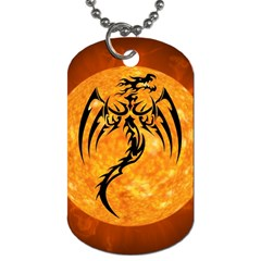 Dragon Fire Monster Creature Dog Tag (two Sides) by Nexatart