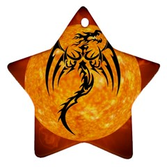 Dragon Fire Monster Creature Star Ornament (two Sides)