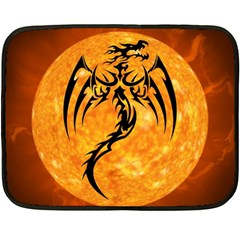 Dragon Fire Monster Creature Fleece Blanket (mini)