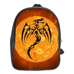 Dragon Fire Monster Creature School Bags(large)