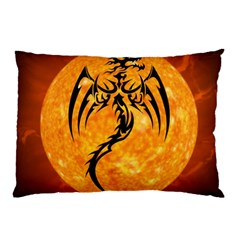 Dragon Fire Monster Creature Pillow Case (two Sides) by Nexatart