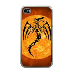 Dragon Fire Monster Creature Apple Iphone 4 Case (clear)