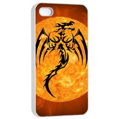 Dragon Fire Monster Creature Apple Iphone 4/4s Seamless Case (white) by Nexatart