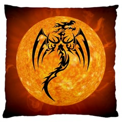Dragon Fire Monster Creature Large Cushion Case (two Sides) by Nexatart