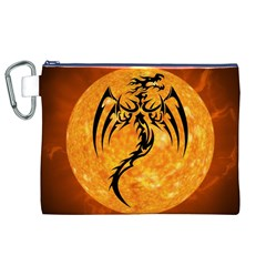 Dragon Fire Monster Creature Canvas Cosmetic Bag (xl) by Nexatart