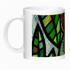Folk Art Flower Night Luminous Mugs