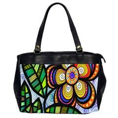 Folk Art Flower Office Handbags (2 Sides)  by Nexatart