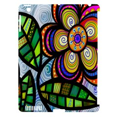 Folk Art Flower Apple Ipad 3/4 Hardshell Case (compatible With Smart Cover)