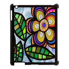 Folk Art Flower Apple Ipad 3/4 Case (black) by Nexatart