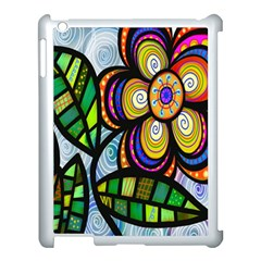 Folk Art Flower Apple Ipad 3/4 Case (white) by Nexatart