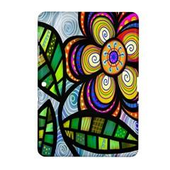 Folk Art Flower Samsung Galaxy Tab 2 (10 1 ) P5100 Hardshell Case