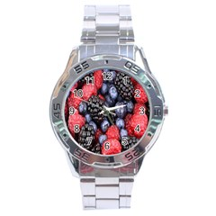 Forest Fruit Stainless Steel Analogue Watch by Nexatart