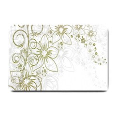 Flowers Background Leaf Leaves Small Doormat