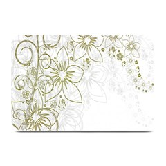 Flowers Background Leaf Leaves Plate Mats by Nexatart