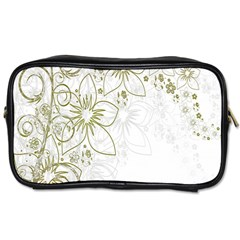 Flowers Background Leaf Leaves Toiletries Bags