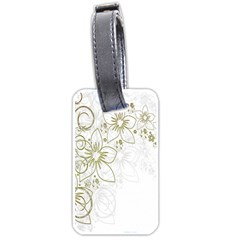 Flowers Background Leaf Leaves Luggage Tags (one Side)  by Nexatart