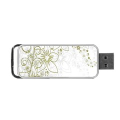 Flowers Background Leaf Leaves Portable Usb Flash (one Side) by Nexatart