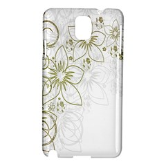 Flowers Background Leaf Leaves Samsung Galaxy Note 3 N9005 Hardshell Case by Nexatart