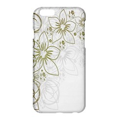 Flowers Background Leaf Leaves Apple Iphone 6 Plus/6s Plus Hardshell Case by Nexatart