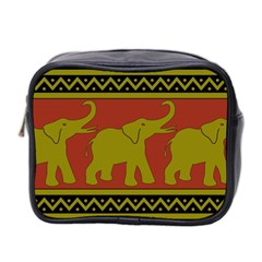 Elephant Pattern Mini Toiletries Bag 2 Side
