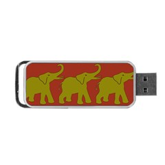 Elephant Pattern Portable Usb Flash (one Side) by Nexatart