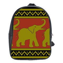 Elephant Pattern School Bags (xl)  by Nexatart