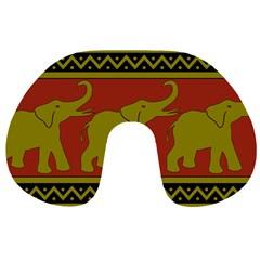 Elephant Pattern Travel Neck Pillows