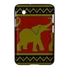 Elephant Pattern Samsung Galaxy Tab 2 (7 ) P3100 Hardshell Case  by Nexatart