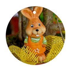 Easter Hare Easter Bunny Round Ornament (two Sides) by Nexatart