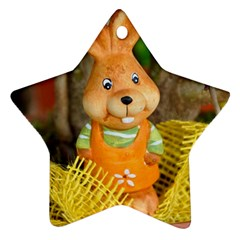 Easter Hare Easter Bunny Star Ornament (Two Sides) by Nexatart