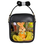Easter Hare Easter Bunny Girls Sling Bags Front