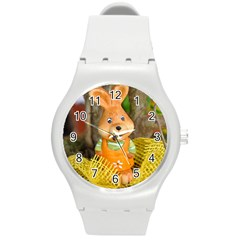 Easter Hare Easter Bunny Round Plastic Sport Watch (m) by Nexatart