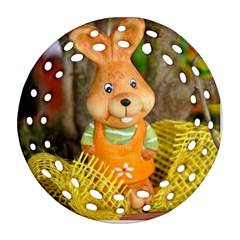 Easter Hare Easter Bunny Ornament (round Filigree) by Nexatart