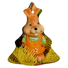 Easter Hare Easter Bunny Christmas Tree Ornament (two Sides)