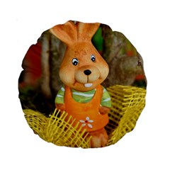 Easter Hare Easter Bunny Standard 15  Premium Round Cushions